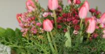 Friss virág dekoráció