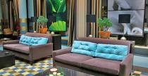 Kék szállodai enteriőr